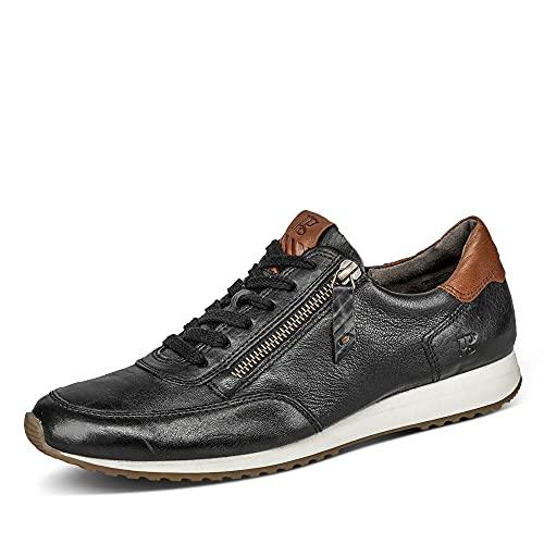 Paul Green 4979 Damen Sneaker Low Glattledr Reißverschluss Gummisohle Ziernähte, Groesse 42, schwarz