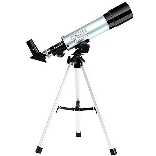 Telescopio Scienza Osservatorio astronomico - Telescopio rifrattore per bambini e principianti, Travel Scope con zaino e treppiede regolabile per osservare la luna Bird Watching Sightseeing