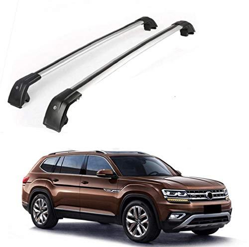 MotorFansClub Roof Rack Cross Bars Fit for Compatible with Volkswagen Atlas 2018-2019 Crossbars Luggage Rack Top Cargo Rack