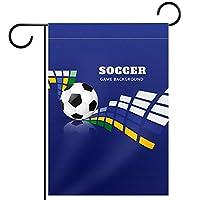 ガーデンフラッグ両面印刷防水サッカーボールスポーツブルー 庭、庭の屋外装飾用