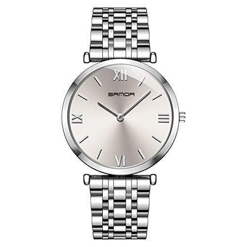 GLEMFOX heren stalen horloge eenvoudige Romeinse cijfers wijzerplaat klassieke business herenhorloge doos armband #3