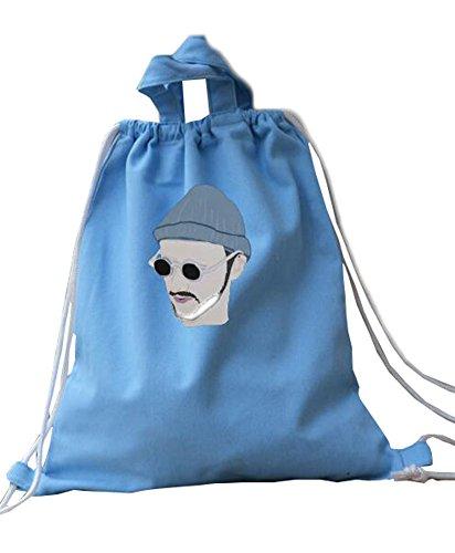 Élégant léger bleu Drawstring sac à dos pour la randonnée, Voyages