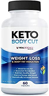 Keto Body Cut - BHB Salt Supplements That Provide Exogenous Ketones and Support Ketogenic Diet, Ketosis, Workout Performan...