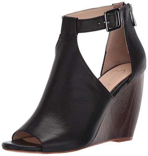 Jessica Simpson Crimsella Wedge Sandals, Black,7.5 M US