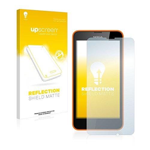 upscreen Entspiegelungs-Schutzfolie kompatibel mit Nokia Lumia 630 Dual SIM – Anti-Reflex Bildschirmschutz-Folie Matt