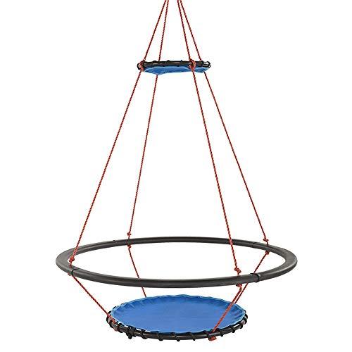 PQXOER-SP Schaukel Kinderschaukel Baum-Schwingen, im Freienschwingen mit dem hängenden Bügel-Installationssatz groß for Spielplatz-Schwingen-Hinterhof-Spielzimmer (Farbe, Größe : Free)
