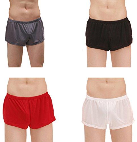 4-Pack Mix Men's Ice Silk Fashion Ultra-Thin Boxer Briefs Underwear Trunk XL