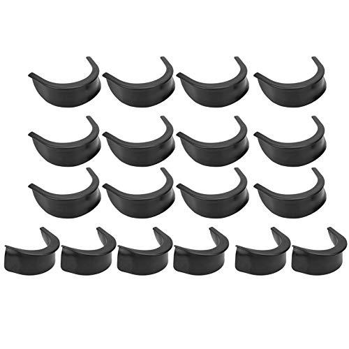 VGEBY Forros de Bolsillo de Mesa de Billar de 18 Piezas, Forros de Bolsillo de Mesa de Billar Forros de Bolsillo de Goma para Mesa de Billar Americana