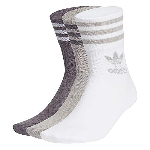 adidas Mid Cut CRW SCK Calcetines, mgh solid grey/grey five, X-Small Unisex Adulto