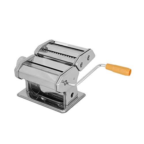 Queiting Nudelmaschine 3 In 1 Edelstahl Nudelmaschine Breite Nudeln Manuelle Nudelmaschine Professionelle Frische Nudeln Lasagne Spaghetti Nudelmaschine Trommelmaschine