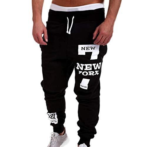 ITISME Homme Pantalon Cargo Militaire Automne Chino Automne Et Hiver Mode Casual New York Impression Mélange de Coton Pantalons