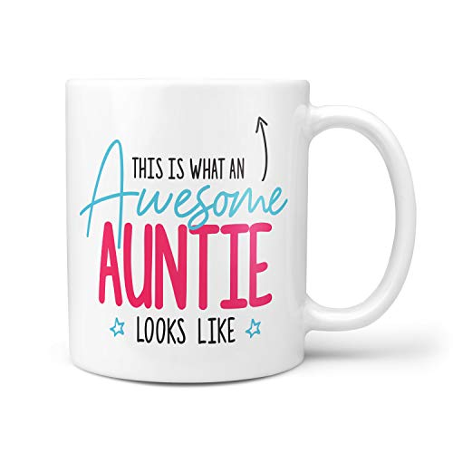 This is What an Awesome Auntie Looks Like Gift Present Christmas Birthday 10oz Ceramic Mug