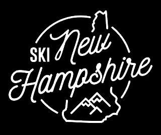 PLU Ski New Hampshire White Decal Vinyl Sticker | Cars Trucks Vans Walls Laptop | White | 5.5 x 4.4 in | PLU1499
