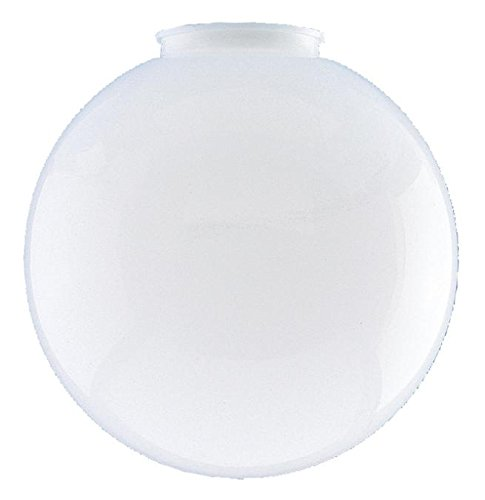Dysmio Lighting 6-inches in diameter Globe -3-1/4-Inch Fitter Opening, Polycarbonate Material, Versatile white color