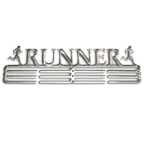 NITTEB Porta Medaglie Running Runner Parete da Muro Marathon Medal Display And Holder Medagliere Medal Hanger Uomo (Maschile Acciaio)