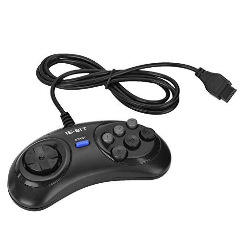 Gamepad für Sega 16bit, kabelgebundene Gamepad Joypad Controller Spielkonsole Griff für Sega 16bit