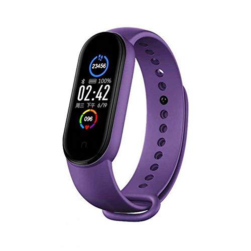 Damaila M5 - Pulsera deportiva inteligente con monitor de ritmo cardíaco para exteriores, IP67, impermeable, podómetro con función de seguimiento GPS (hombre y mujer)