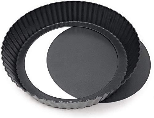 Cake - Moule à Tarte/Moule à Quiche - Fond Amovible - Revêtement Antiadhésif - Ø 24 cm