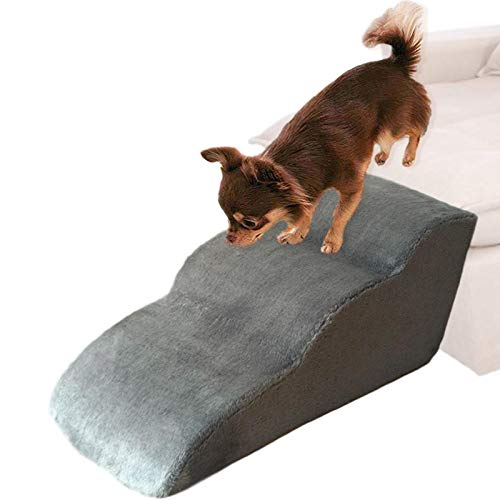 Pet Steps Stairs for Dogs & Cats - Dog Stairs Ladder Pet Stairs - Small Dog Ramps for Sofa Bed - Grey - 604230cm
