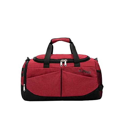 GYYlucky Fashion Travel Bag Portable Large Capacity Outdoor Sports Fitness Bag Tote Bag Hiking Bag Color : E