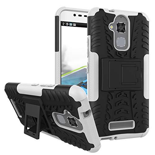 XINFENGDI Asus ZenFone 3 Max/ZC520TL Hülle,Handytasche Kratzfest aus TPU/PC Material Reifenprofil Handyhülle Kompatibel mit für Asus ZenFone 3 Max/ZC520TL - Weiß