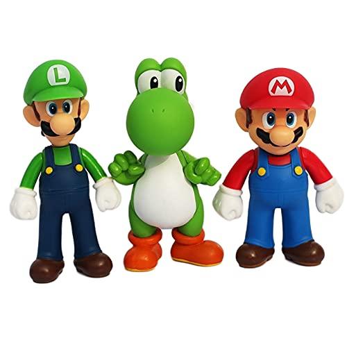 ZCFJ Super Mario Figures Mario Bros Luigi Odyssey Figures Mario Bros Action Figures 13CM,Mario PVC Toy Figures Super Mario Anime Figure Model