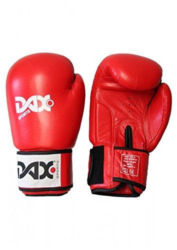 DAX Leder-Boxhandschuhe TT, rot 12oz
