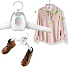 FERRYONE Clothes Dryer Shoe Dryer Hanger Dryer 1 Unit 2 Roles Function Quick Drying Hot Air/Natural Wind Switching Silent Rainy Season Measures Home Travel Business Trip with English Instructions