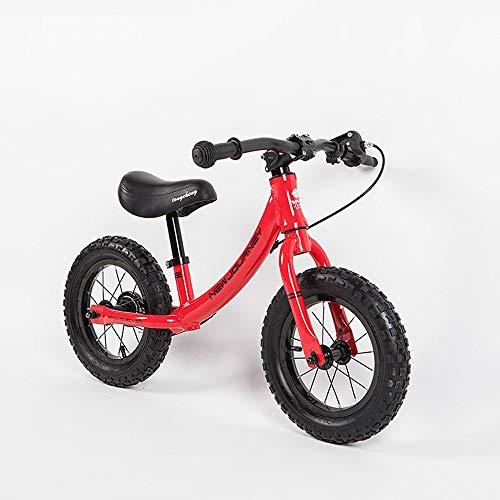 Fahrrad-Roller ohne Pedal Kinderfahrrad Zwei-Rädern 2-6 Jahre altes Baby 12 Zoll aufblasbare Schiebe Auto Übung Kinder Fahrrad
