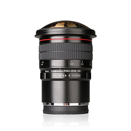 Meike 8mm f 3.5 Ultra Wide Rectangle Fisheye APS-C Lens Compatible with Fujifilm X-Mount Mirrorless Camera