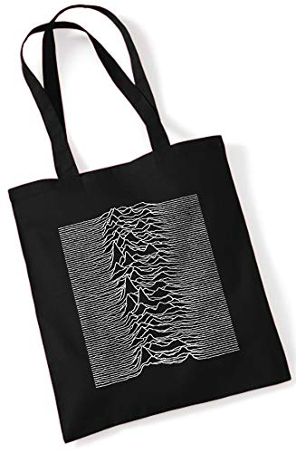 Joy Division - Unknown Pleasures/Stoffbeutel Jutebeutel Tote Bag/SCHWARZ Black