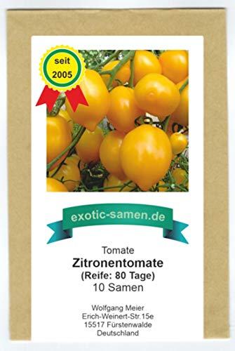 gelbe, aromatische Tomate in Zitronenform - Zitronen-Tomate - 10 Samen