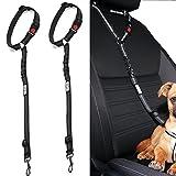 Headrest Dog Car Seat Belt Adjustable with Elastic Bungee Buffer Durable Headrest Pet Seat Belt Dog Car Safety Harness Restraint