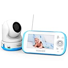"""★【4.3"""" LCD Screen& Plug and Play】4.3"""" Large LCD display with 100% digital technology for privacy and security, and allow you to monitor the baby's activities in real time without delay. Plug and play, No WIFI/Internet/APP setup required. ★【Expandable..."""