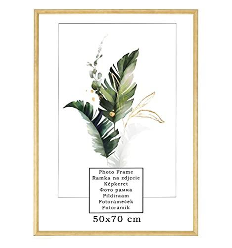 Umweltfreundlicher, gewölbter Fotorahmen| Poster- oder Bilderrahmen | Holz | 9 Größen | Ideal zum Selbermachen (50x70 cm)
