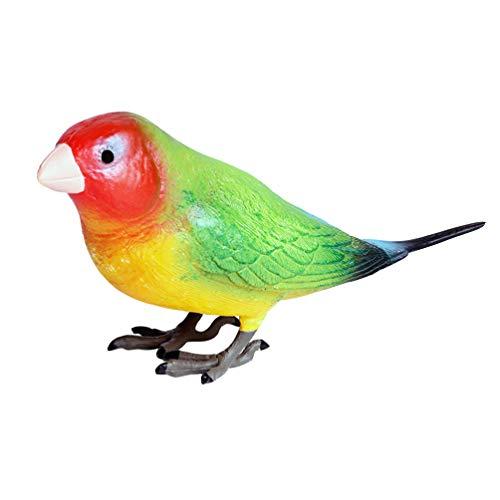 Kisangel Figuras Decorativas de Aves Mini Pájaro Loro Modelo Animal Juguetes Decoración...