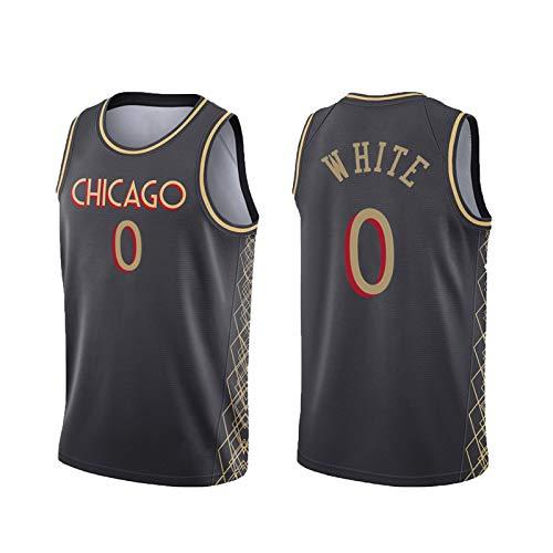 USSU 2021 Bǔll 0# Basketball Jersey Whǐtě Vestido Deportivo sin Mangas Camisetas para Hombre Tops Uniformes Sudadera Deportiva para Hombres Camisas, Anti-Color, Jersey f XXL