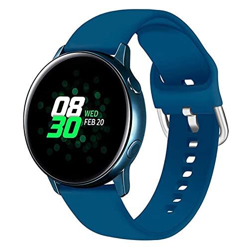 LLKHFA Correa de silicona para reloj Samsung Galaxy Watch 42 mm Active2 40/44 mm suave para reloj deportivo Samsung S2 Classic (color de la correa: color 10, ancho de la correa: para Amazfit Bip)