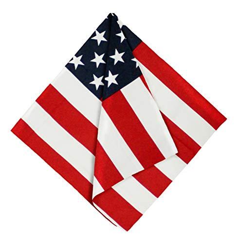 American Flag Bandana Handkerchief - Large/Jumbo USA Cowboy Bandanas for Men & Women - Head & Face Wrap Scarf