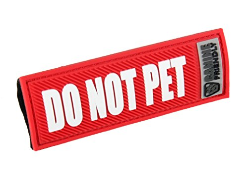 Canine Friendly Bark Notes Patch for Collar or Leash, Do Not Pet, 3/4' Width