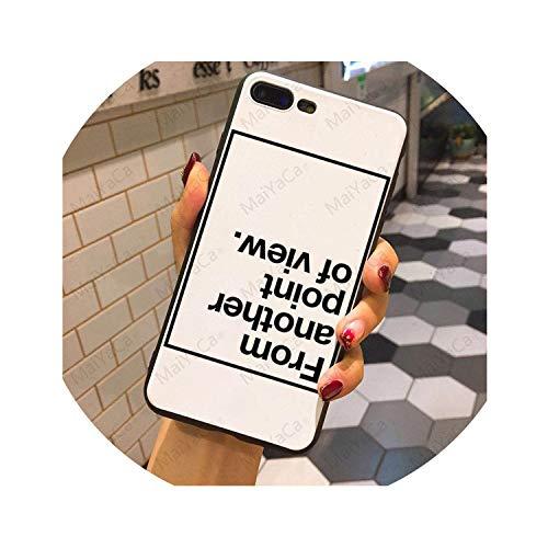 Carcasa de TPU para iPhone 7, 7Plus, 8, 8Plus, 6S, 6, 6Plus, 5, 5S, 5C, 5C, con Frase Inglesa