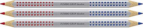 Faber-Castell Jumbo Grip Bicolor - Lápiz para semillas, color rojo y azul, rojo y azul, Rot/Blau