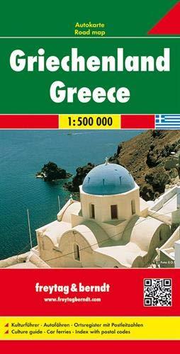 F&B Griekenland 2-zijdig: Wegenkaart 1:500 000