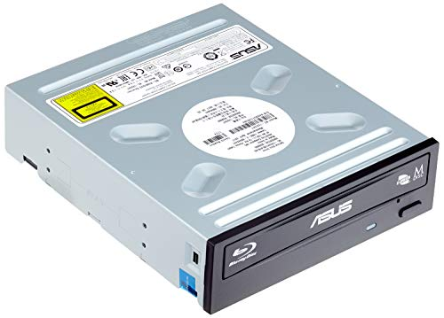 Asus BC-12D2HT Silent internes Blu-Ray Combo Laufwerk (12x BD-R (Lesen), 16x DVD±R (Schreiben), Bulk, BDXL,  Sata, Schwarz