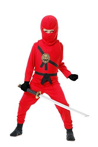 Charades Child's Ninja Avenger Costume, Red, Medium