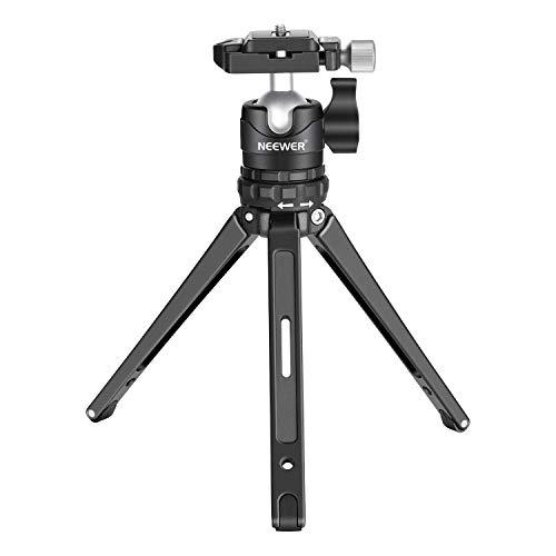 Neewer tragbares kompaktes Tisch Makromini Stativ 19cm mit 360 Grad Kugelkopf mit niedrigem Profil 1/4 Zoll Schnellwechselplatte für DSLR Kameras Belastbarkeit bis zu 17,6 Pfund