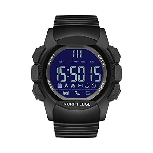 NORTH EDGE Reloj inteligente podómetro, calorías, distancia, alarma para iOS / Android cronómetro, recordatorio de llamada/mensaje
