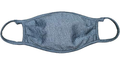 Paquete de 8 cubrebocas AJUSTABLES - LAVABLES/reutilizables de triple capa de suave tela de algodón/poliester tratada Repelente al agua. Talla Adulto. COLOR GRIS OXFORD