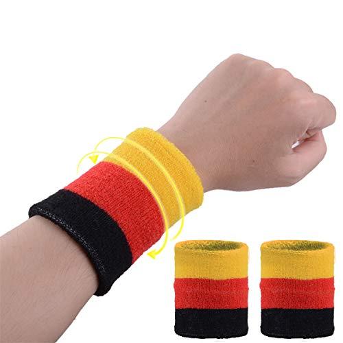 VerteLife 2 Stück Sport Schweißbänder Wristbands für Männer & Frauen, Elastisch Absorbierende Schweissband Schweißarmband Sportliche Handgelenk Armbänder für Tennis Fußball Fitness Laufen Training, D