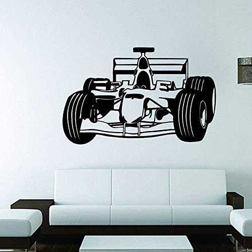 Deportes 4x4 coche arte calcomanía velocidad carreras fórmula F1 vinilo pared pegatina niños dormitorio sala de juegos garaje decoración papel tapiz Mural cartel